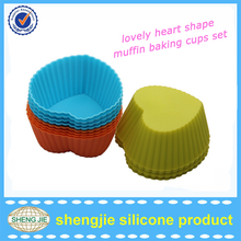 Customized colorful cupcake mold for kids reusable silicone cupcake baking molds