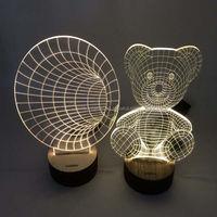 Light Base Crystal Led Glass 3D Laser For Home Decoration