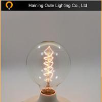 Vintage color G95 40W Edison Reproduction Clear Glass Bulb,CLEAR E27 G95 EDISON BULBS 40w 60w