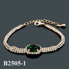 Bisuteria New Products Fashion Gold Plated Jewelry Artificial jewellery Cubic Zirconia Tennis Bracelet Charm Bracelet