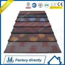 Nuoran interlocking stone metal roof sheet/architectural roof shingles/better than pvc roof