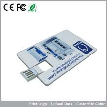 promotion usb credit card, business card memory stick, 1gb 2gb 4gb 8gb 16gb 32gb 64gb