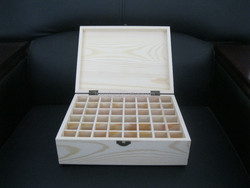 wood material and hand made wooden essential oil box for 48 bottles