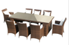 8 seater dining rattan furniture patio table and chairs