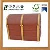 wholesale pine decorative christmas empty small mdf custom wine wooden gift box