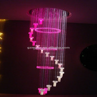 2015 low price large chinese modern wholesale fiber optic crystal chandelier for high ceiling