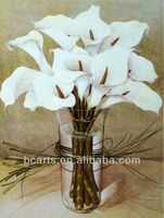 Modern white flowers glass vase paintings home decoration thermal image A