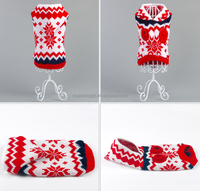2015 newest warm dog knitwear ,puppy kintted sweater ,weave with hat for dogs