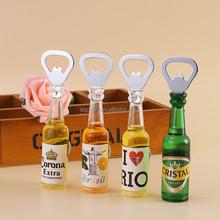 High Quality 3D Artificial Beer Bottle Opener Fridge magnet for Promotional Gifts