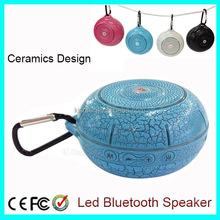 Ceramic Design with Key Chain LED Wireless Mini Portable Bluetooth Speaker