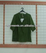 las mujeres corto de seda de manga larga blusa suelta