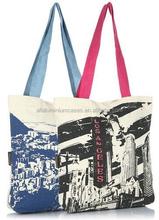 Newest colorful designer lady fashion canvas shoulder bag /canvas bag China manufacturer