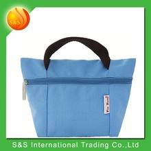 Practical solid color tote bag foldable lady bags handbag