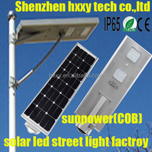 6W-100W High Lumen Solar Street Light with All in One and IP66 / Solar Street Light