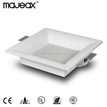 Decorative Gypsum Plaster square recessed led downlight