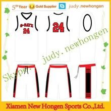 Top quality Basketball Uniform/Basketball Sportswear/Basketball Apparel