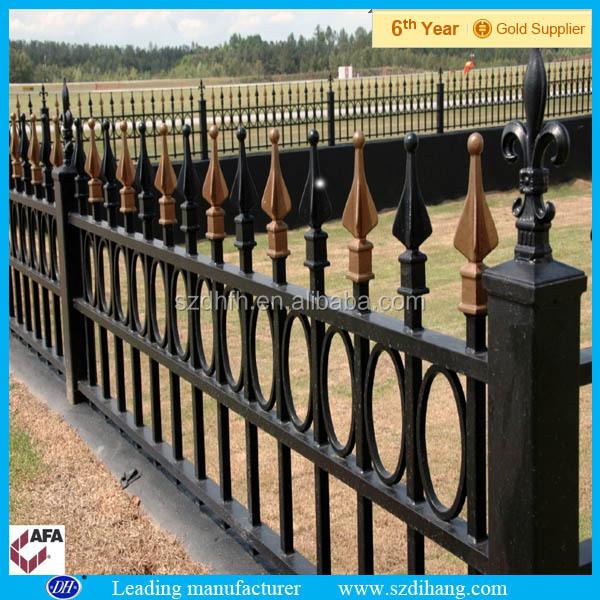 Baratos valla de hierro forjado/prefabricados de acero de la cerca ...