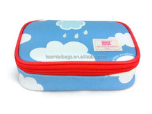 New design flowers travel cosmetic bag women dayuse travel makeup case