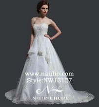 Natural Hope Diamond Lace Ball Gown Wedding Dress vintage wedding