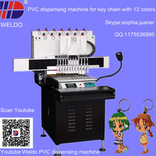 Máquina de distribuição de PVC para fazer chaveiros com 12 cores