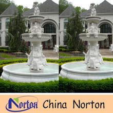 decorative head head lady statue and horse stone garden water fountain NTMF-SA172S