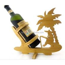 cute shaped bamboo wine bottle holder, unit wine holding rack wholesale