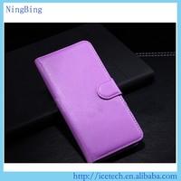 Wallet mobile phone flip case pu leather case for blackberry leap