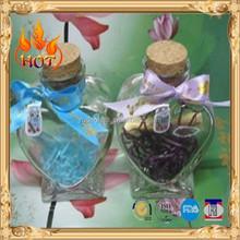 hot sale heart shape glass bottle for decoration