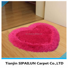 New fashional love shape polyester shaggy 3D rugs