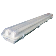 Car park 36 watt dual tube fixture emergency led light impact resistant
