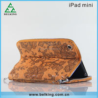 For iPad Mini Leather Case Fashion Stylish Card Pocket Tablet Case