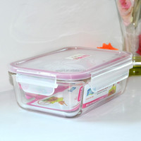 High Quality Microwavable glass food container, air tight container