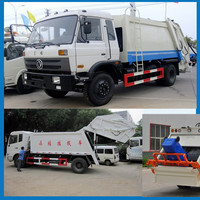 Dongfeng 190hp 10 tons Rear Load Garbage Compactor Truck 4x2 10cbm refused compactor trucks For Sale