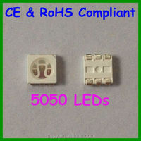 Free samples CE RoHS high lumens specifications 0.2watt 5050 red smd led