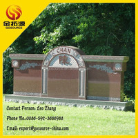 India red granite carving tombstone