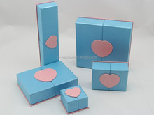 Elegant whole set fashion cardboard jewelry box,paper jewelry box,jewelry paper box