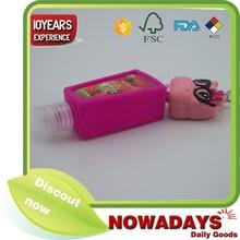 Cute design animal silicone hand sanitizer pocketbac holders