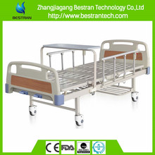 China BT-AM203 2 rockers hospital double crank mechanical manual patient clinic bed with side rails