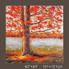 Decorative canvas oil painting, 3D landscape oil painting,autumn landscape painting