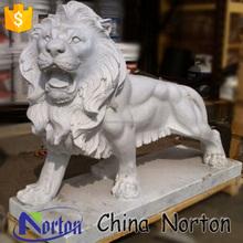 ที่สมบูรณ์แบบแกะสลักหินอ่อนสิงโตรูปปั้นสิงโตหินอ่อนโบราณสำหรับขายntbm- l079r