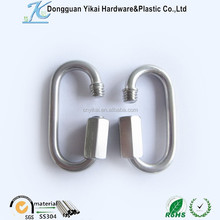 stainless steel retaining hooks,emergency quick link,locking screw hooks