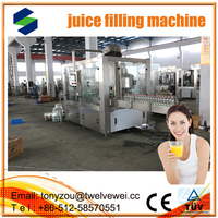 Apple/Orange/Grape And Other Fruit Juice Filling Machine automatic 3 in1 juce filling machine