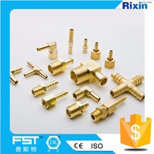 8mm Tee T tree lpg fitting Four clamp connector brass metric barbed hydraulic hose fitting hose fittings