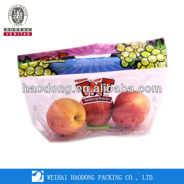 China Manufacturer Custom Plastic Clear Fruit Bag
