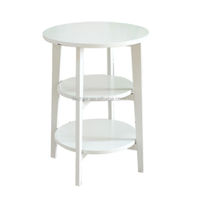 new design three layer Four beech legs side table/coffee table