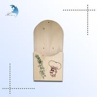 Vintage custom printed wall mounted wooden crafts keys holder