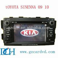 toyota car dvd for toyota sienna for TOYOTA /sienna 09/10 WS-8990