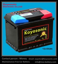 JIS Automotive Maintenance Free Battery, long life lead acid MF car battery