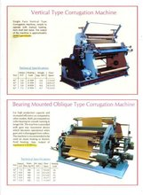 Vertical Type Corrugation Machine, Bearing Mounted Oblique Type Corrugation Machine
