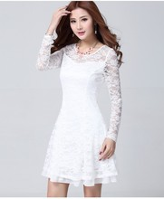 2015 caliente venta de más mujeres de vestido de encaje para el verano